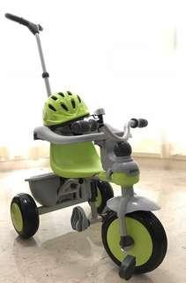 Joovy Kids Tricycle with helmet