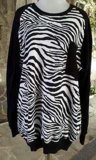 Sweater unisex motif Zebra