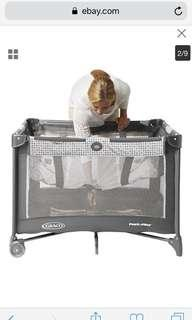 Graco playpen pack and play grey with coconut fiber mattress