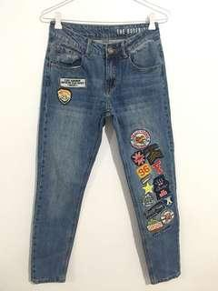 Cotton on boyfriend patch jeans
