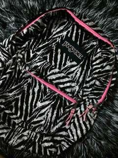 Jansport zebra print bag