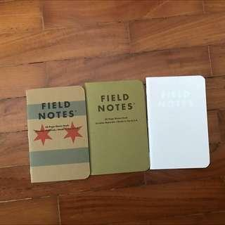 Field notes Notebook combi of 3