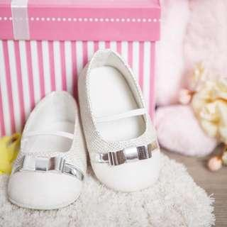 Claire Silver Baby Shoes Personalised with Names