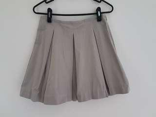 JNBY Grey Box Pleated Flare Skirt