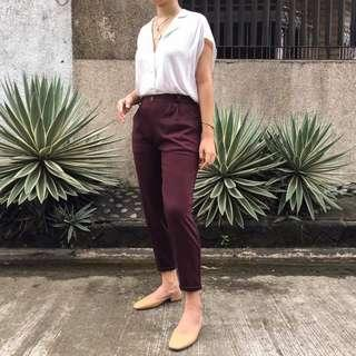 Trouser Pants in Mulberry