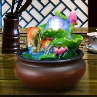 13001 16*16*20cm FengShui Polyresin Double Fish Feature