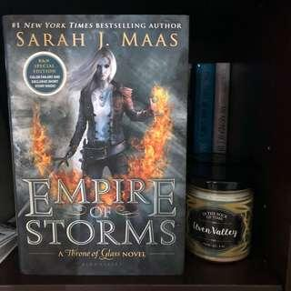🚚 B&N Edition Empire of Storms by Sarah J Maas Hardcover (Throne of Glass Book Series)