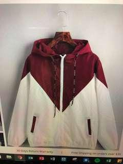 ZAFUL burgundy windbreaker