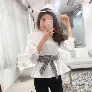 [NEW] Korean White Top Blouse