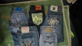 Assorted mens denim