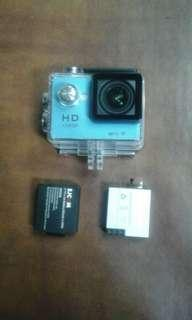 Action Camera Wifi with complete accessories