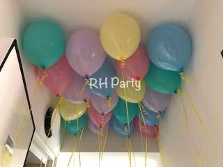 (10/11) Pastel Latex Helium Balloons
