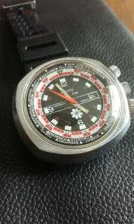 Vintage Motor World time mechanical watch