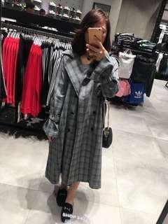 🚚 格紋風衣外套