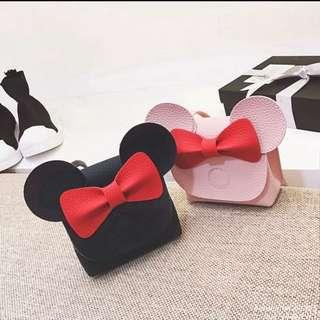 🚚 BN Baby/ Toddler Girl Korean Inspired Minnie Bow Sling Bag Black/Pink available! Suitable for 3-12years!