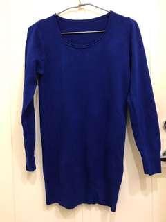 🚚 親膚寶藍長版衣