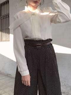 🚚 日系個性雪紡領結古著襯衫