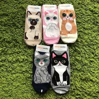 <NEW design Instocks> Cute cat Korean ankle socks