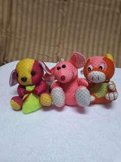 Old stuffed toys (3pcs)