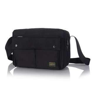 🚚 💥CHEAPEST - Porter Medium Size Buttoned Multi Compartment Sling Bag (Black)