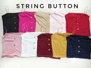 Faux Button String Top