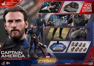 🗼[全新現貨]Hottoys MMS481 Captain America Movie Promo Avengers infinity war 復仇者聯盟 無限之戰