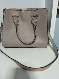 H&M Leather bag pink
