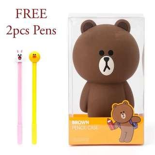 Korea LINE Friends Brown/Cony Pencil Case