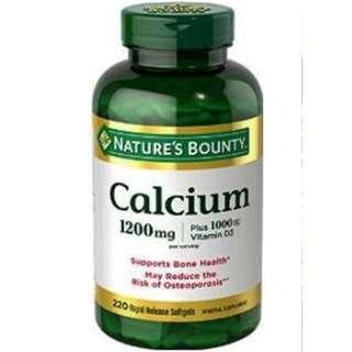 Nature's Bounty Calcium 1200 mg Plus Vitamin D3, 220 Capsules