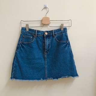 Forever21 Denim Skirt #SINGLES1111