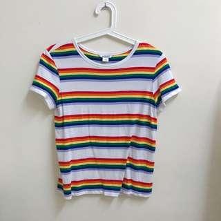 Monki rainbow top #SINGLES1111