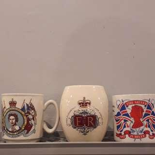 Queen Elizabeth mugs