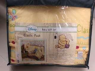嬰兒床圍 BB床圍 被鋪 Winnie the Pooh 12件套裝 (缺: 枕頭連套+抱枕連套)