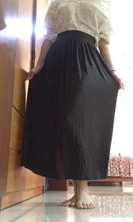 Army green long skirt