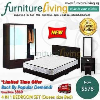 New 4 in 1 Bedroom Package Set for only $578