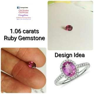 1.06 carats Ruby Gemstone
