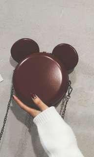 🚚 [In Stock!] Mickey Sling Bag in Maroon Brown
