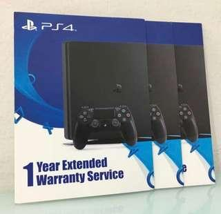 PS4 Extended 1year warranty vouchers