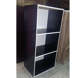 3 Open Layers Cabinet - Black