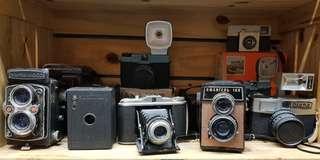 varieties of old camera