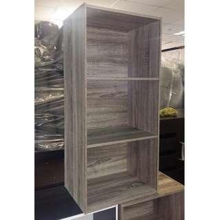 3 Open Layers Cabinet - Dark Sonoma Oak