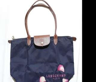SALE!!!Preloved Longchamp lepliage medium long handle