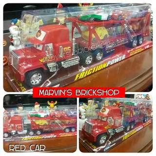 New Toy The CARS Mack Truck and 6 Car Friends Available in Red & Blue