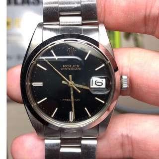 Rolex 6694 Oysterdate Precision Unpolished 黑金面 全原裝 冇磨過