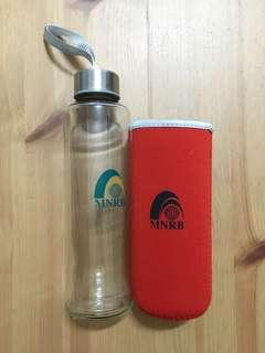#SINGLES1111 Glass Water Bottle with Protector