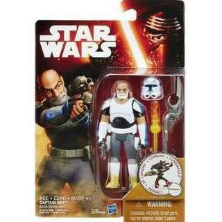"BN Star Wars Captain Rex Rebels Saga Mission Series Legends 3.75"" 3 3/4 inch figure B6341 /  Disney Cartoon Hasbro Storm Trooper TRU"