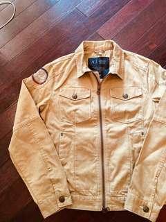 Armani Jeans卡其騎士夾克