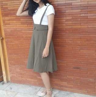 army green dress