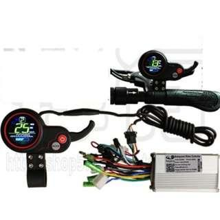 controller brushless double mode 60v 28A 500-600w , color LCD display, USB charging port for escooter electric scooter