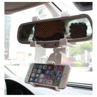 #PayNow [In Stock] 🌟 White/Black Car Rear Mirror Handphone Holder 🌟